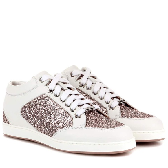 Nwot Jimmy Choo Miami Rose Gold Sneaker